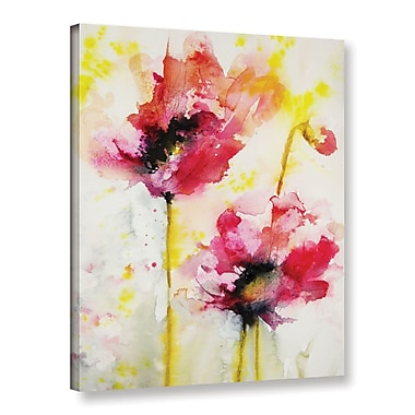ArtWall Spring Vibrance by Karin Johannesson Painting Print on Wrapped Canvas; 32'' H x 24'' W