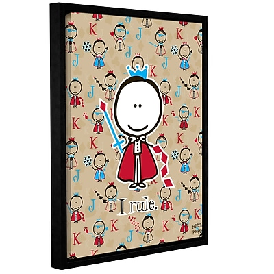 ArtWall I Rule by F(Felittle) Kamriana Framed Graphic Art on Wrapped Canvas; 48'' H x 36'' W