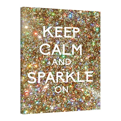 ArtWall Keep Calm And Sparkle On by Art D Signer Kcco Graphic Art on Wrapped Canvas; 32'' H x 24'' W