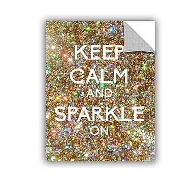 ArtWall Keep Calm And Sparkle On by Art D Signer Kcco Graphic Art; 24'' H x 18'' W