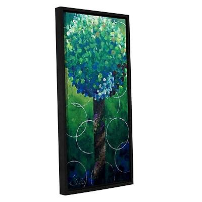 ArtWall Lolli Pop Green by Shiela Gosselin Framed Painting Print on Wrapped Canvas; 24'' H x 12'' W