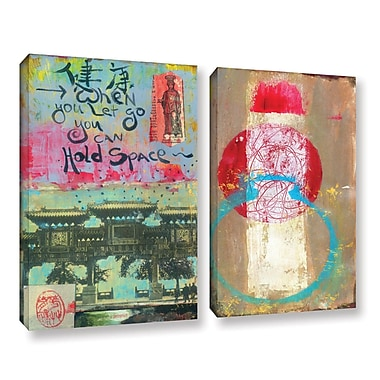 ArtWall Art Journal Let Go by Elena Ray 2 Piece Graphic Art on Wrapped Canvas Set; 24'' H x 32'' W