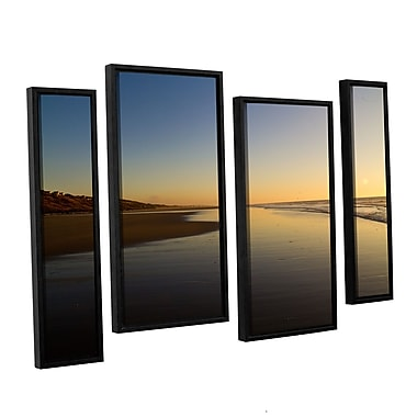ArtWall Equihen Plage by Lindsey Janich 4 Piece Framed Photographic Print on Wrapped Canvas Set