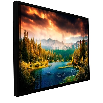 ArtWall Mountain View by Revolver Ocelot Framed Graphic Art on Wrapped Canvas; 18'' H x 36'' W