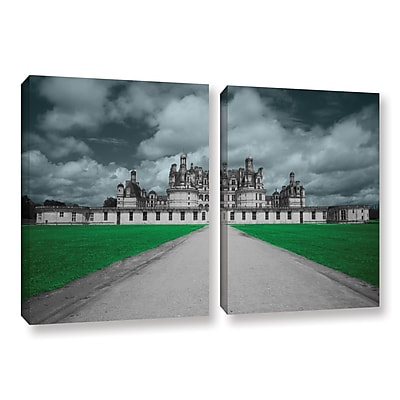 ArtWall Castle by Revolver Ocelot 2 Piece Graphic Art on Wrapped Canvas Set; 32'' H x 48'' W