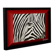 ArtWall Zebras Abstract by Lindsey Janich Framed Painting Print on Wrapped Canvas; 32'' H x 48'' W