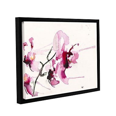 ArtWall Orchids Iii by Karin Johannesson Framed Painting Print on Canvas; 24'' H x 32'' W