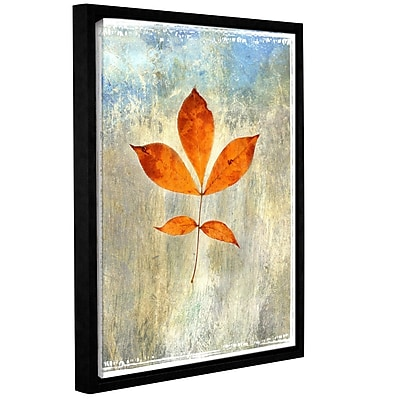 ArtWall Leaf I by Elena Ray Framed Painting Print on Wrapped Canvas; 48'' H x 36'' W