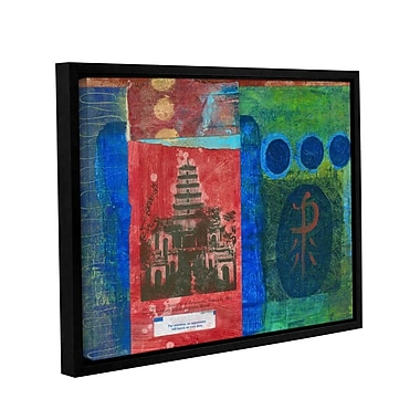 ArtWall Good Fortune Pagoda by Elena Ray Framed Painting Print on Wrapped Canvas; 24'' H x 32'' W