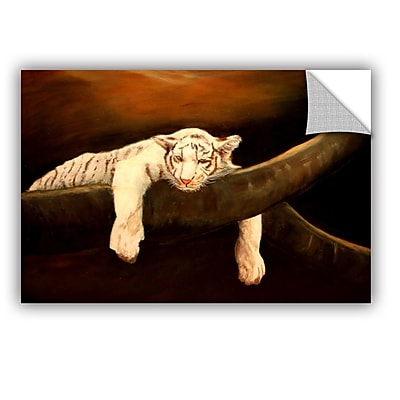 ArtWall Baby Tiger by Lindsey Janich Removable Painting Print; 32'' H x 48'' W