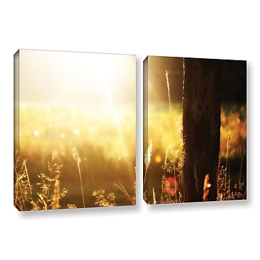 ArtWall Summertime by Revolver Ocelot 2 Piece Photographic Print on Wrapped Canvas Set
