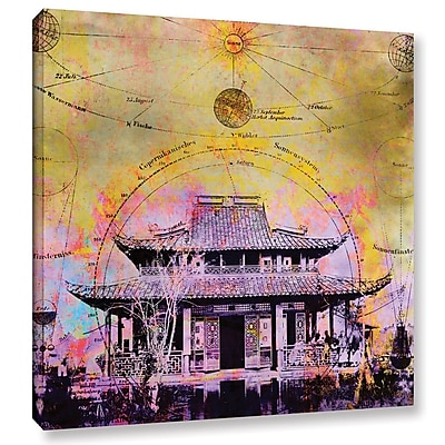 ArtWall Celestial Temple by Elena Ray Graphic Art on Wrapped Canvas; 18'' H x 18'' W