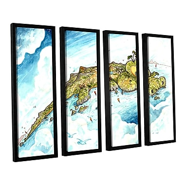 ArtWall Timor Island by Luis Peres 4 Piece Framed Painting Print on Wrapped Canvas Set