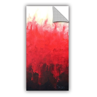 ArtWall Red Watery by Shiela Gosselin Removable Painting Print; 24'' H x 12'' W