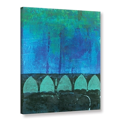 ArtWall Blue-Green Abstract by Elena Ray Painting Print on Wrapped Canvas; 32'' H x 24'' W