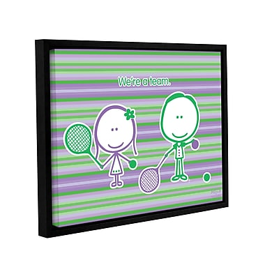 ArtWall Team by F(Felittle) Kamriana Framed Graphic Art on Wrapped Canvas; 24'' H x 32'' W