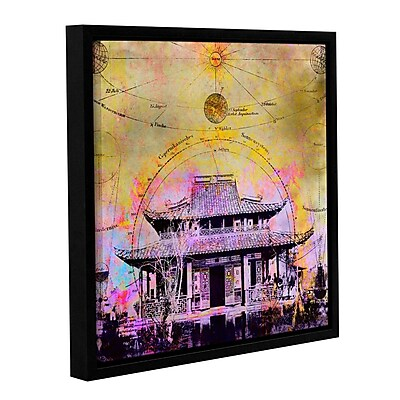 ArtWall Celestial Temple by Elena Ray Framed Graphic Art on Wrapped Canvas; 36'' H x 36'' W