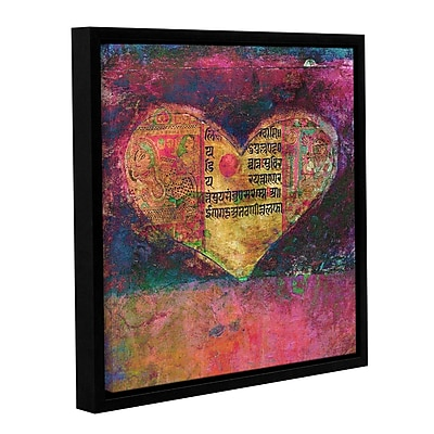 ArtWall Tantra Heart by Elena Ray Framed Painting Print on Wrapped Canvas; 18'' H x 18'' W