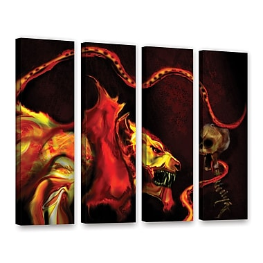 ArtWall Shadow Of The Beast by Michael L Stewart 4 Piece Graphic Art on Wrapped Canvas Set