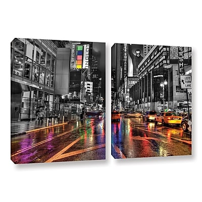 ArtWall Nyc by Revolver Ocelot 2 Piece Graphic Art on Wrapped Canvas Set; 18'' H x 28'' W