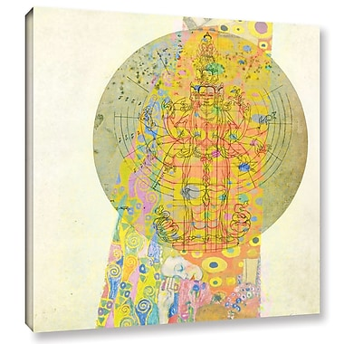ArtWall Blessings from The Goddess by Elena Ray Graphic Art on Wrapped Canvas; 14'' H x 14'' W