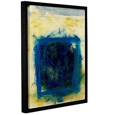 ArtWall Blue Squares by Elena Ray Framed Painting Print on Wrapped Canvas; 32'' H x 24'' W