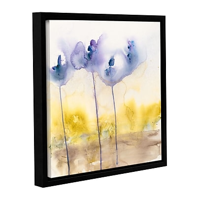 ArtWall Dream in Blue by Karin Johannesson Framed Painting Print on Wrapped Canvas; 24'' H x 24'' W