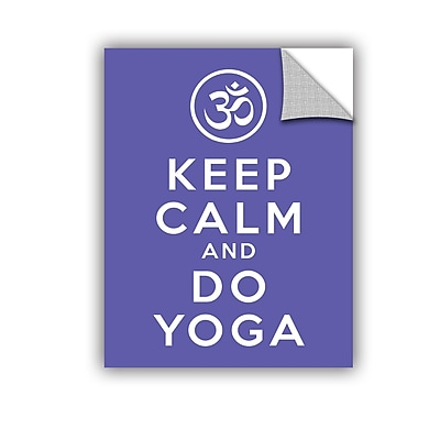 ArtWall Keep Calm And Do Yoga by Art D Signer Kcco Removable Graphic Art; 18'' H x 14'' W