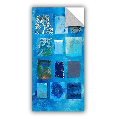 ArtWall Blue Tree Collage by Elena Ray Removable Painting Print; 48'' H x 24'' W WYF078278526563