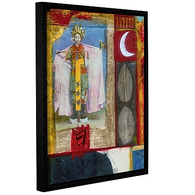 ArtWall Chinese Moon Queen by Elena Ray Framed Painting Print on Wrapped Canvas; 18'' H x 14'' W