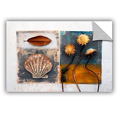 ArtWall Conch, Magnolia, Thistle by Elena Ray Removable Graphic Art; 12'' H x 18'' W