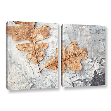 ArtWall Still Life Two Leaves by Elena Ray 2 Piece Photographic Print on Wrapped Canvas Set