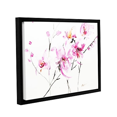 ArtWall Orchid 3 by Karin Johannesson Framed Painting Print on Canvas; 36'' H x 48'' W