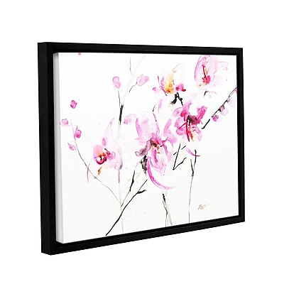 ArtWall Orchid 3 by Karin Johannesson Framed Painting Print on Canvas; 18'' H x 24'' W