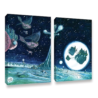 ArtWall Floating by Luis Peres 2 Piece Painting Print on Wrapped Canvas Set; 36'' H x 48'' W
