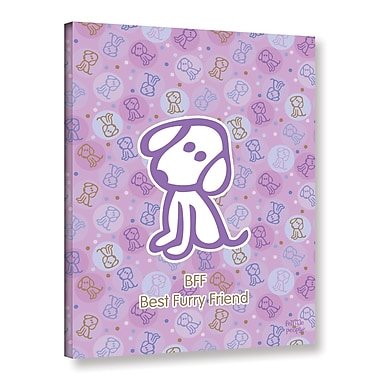 ArtWall Bff Best Furry Friend by F(Felittle) Kamriana Graphic Art on Wrapped Canvas; 24'' H x 18'' W