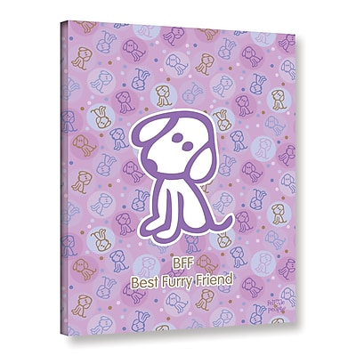 ArtWall Bff Best Furry Friend by F(Felittle) Kamriana Graphic Art on Wrapped Canvas; 32'' H x 24'' W