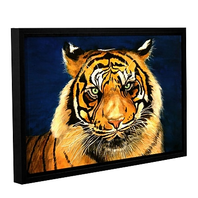 ArtWall Tiger By Lins by Lindsey Janich Framed Painting Print on Wrapped Canvas; 24'' H x 36'' W