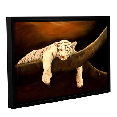 ArtWall Baby Tiger by Lindsey Janich Framed Painting Print on Wrapped Canvas; 32'' H x 48'' W