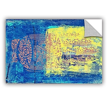 ArtWall Blue w/ Stencils by Elena Ray Painting Print; 12' H x 18'' W