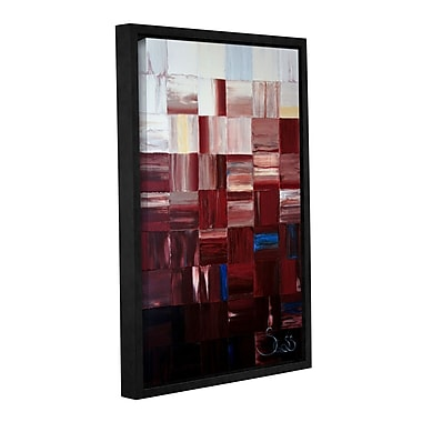 ArtWall Redsquares by Shiela Gosselin Framed Painting Print on Wrapped Canvas; 18'' H x 12'' W