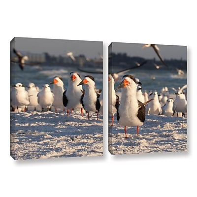 ArtWall Skimmers Siesta Key by Lindsey Janich 2 Piece Photographic Print on Wrapped Canvas Set