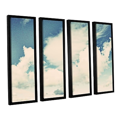 ArtWall Clouds on a Beautiful Day by Elena Ray 4 Piece Framed Painting Print on Canvas Set