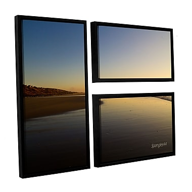 ArtWall 'Equihen Plage' by Lindsey Janich 3 Piece Framed Photographic Print on Canvas Set