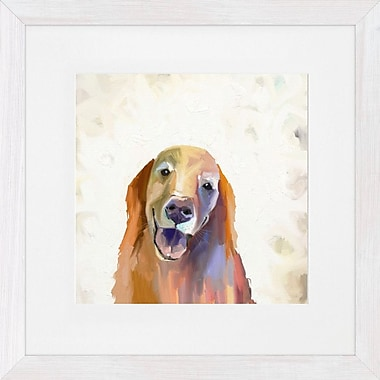 GreenBox Art 'Best Friend Golden Retriever' by Cathy Walters Framed Painting Print