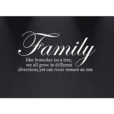 Innovative Stencils ''Family Like Branches on a Tree''... Quote Wall Decal; White