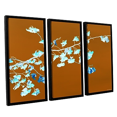ArtWall 'Just Leaving' by Lora Mosier 3 Piece Framed Graphic Art on Canvas Set