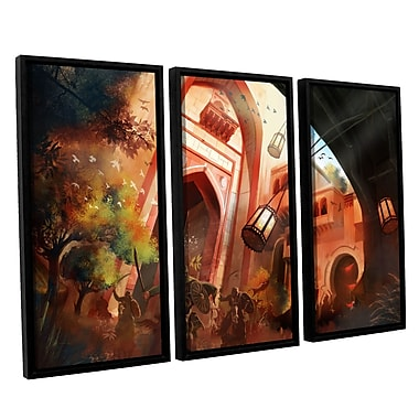ArtWall 'Old Times 1' by Luis Peres 3 Piece Framed Graphic Art on Canvas Set