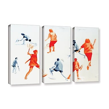 ArtWall 'Swuahs Players' by Lindsey Janich 3 Piece Painting Print on Wrapped Canvas Set