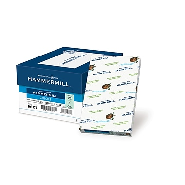 HammerMill® Fore® MP Color Paper, 8 1/2in. x 14in., Green, Ream